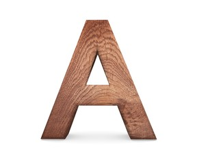 3D decorative wooden Alphabet, capital letter A