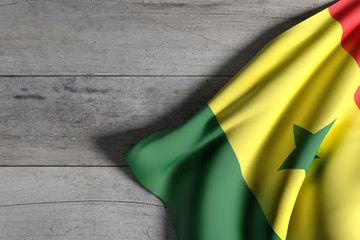 Senegal flag waving