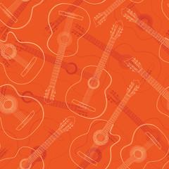 Seamless western, jazz, flamenco, acoustic guitar.