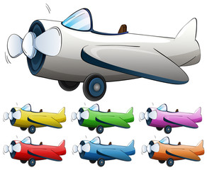 Jet plane in different colors