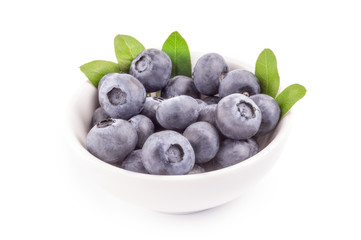 Fresh blueberry isolated on a white background cutout