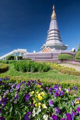 Beautiful sky and pagoda, Doi Inthanon National Park, Chiang mai