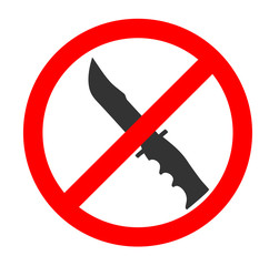 No Knife Sign and Symbol