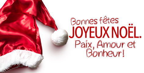 Happy New Year, Merry Christmas, Peace and Love (in French)
