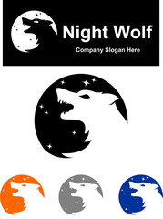 logo roar night wolf