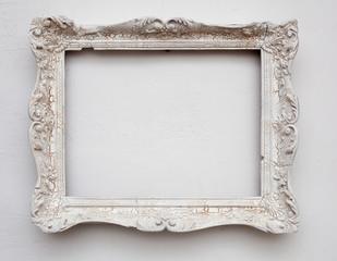 Vintage antique white on the white wall