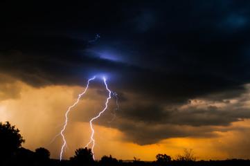 Sunset Electric Lightning