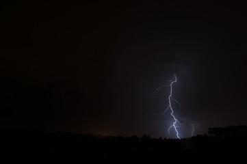 Lightning in the horizon