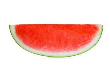 A slice of fresh watermelon isolated on white background.