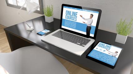 black desktop devices online courses