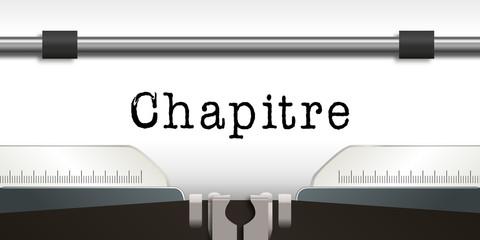 Chapitre - Machine a Ecrire - Thèse - écrivain