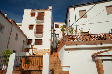 White spanish village in Andalusia in  the mountains - Genalguacil.