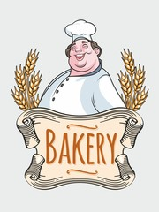 Chef baker label