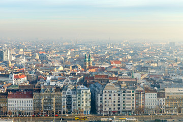 Morning transport in Budapest