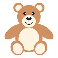 Flat icon teddy bear. Vector illustration.