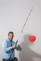 husband fishing concept