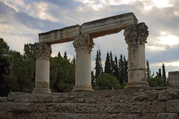 Ruins of Octavia temple in Corinth, Greece
