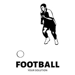 Football vector logo. Brand's logo in the form of a soccer player