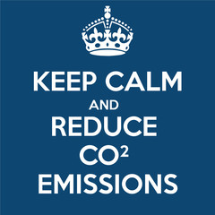 Keep Calm And Reduce Carbon Emissions