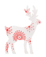 Christmas decoraration, reindeer on white background