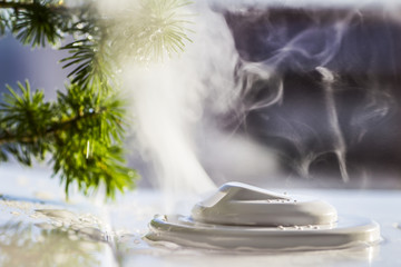 humidifier, steam, moisture, moisturize, wet, saturating the air with water, smoke