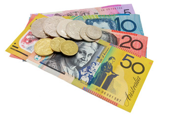 Australian currency notes and coin