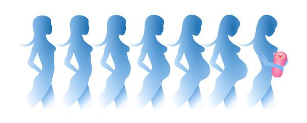 Silhouette einer schwangeren Frau_1