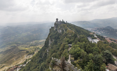 Cesta tower, one of three fortress in San Marino.