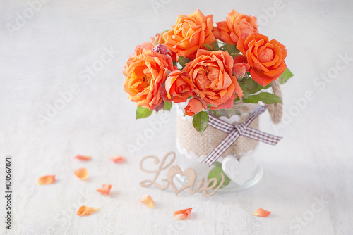 Lovely Bunch Of Flowers Autiful Fresh Roses Flowers In A Vase