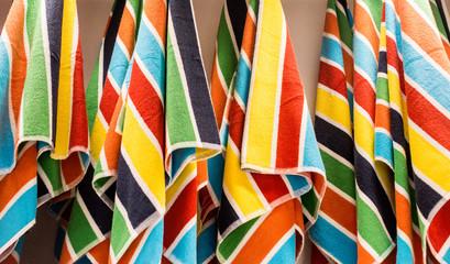 Beach Towels on a Rack