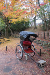 parked riksha in kyoto