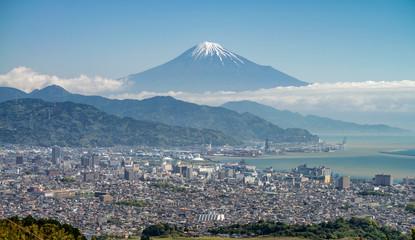 Mount Fuji and Shizuoka town from Nihondaira hill. Wall mural