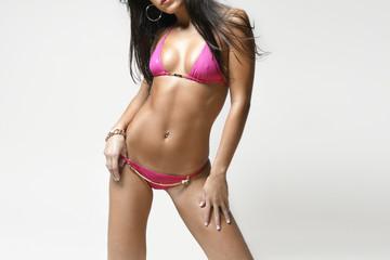 Unrecognizable Bikini Model
