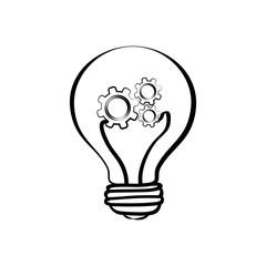 Bulb light draw icon vector illustration graphic design