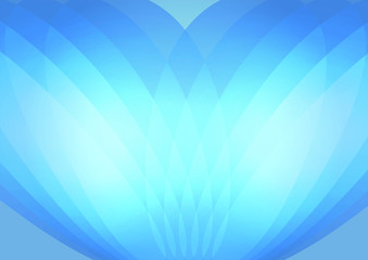 Abstract blue background. Sound wave concept.