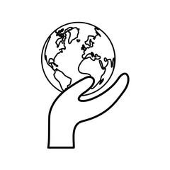 World earth map icon vector illustration graphic design
