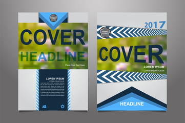 Blue Vector annual report Leaflet Brochure Flyer template design, book cover layout design, Abstract dark blue presentation book cover templates