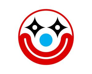 smiling clown icon