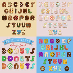 Sweet Donuts Artistic Alphabets