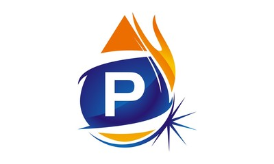 Water Fire Flame Gas Oil Initial P