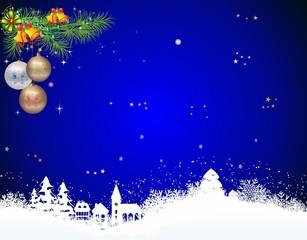 Dekoracja na Boże Narodzenie z bombkami