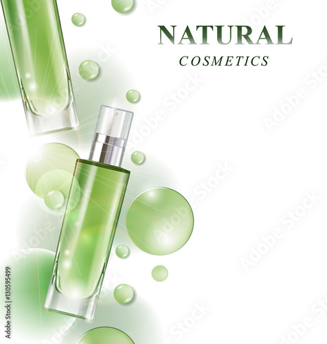 Cosmetic Product Lotionvegetable Oilnatural Cosmetics Beautiful Bottle With Drops