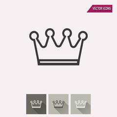 Crown - vector icon.