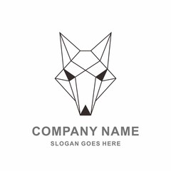 Geometric Wolf Phone Apps Cyber Security System Technology Computer Business Company Stock Vector Logo Design Template