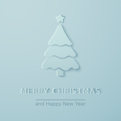 Christmas minimalistic  greeting Card.