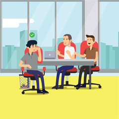 promotional business meeting flat illustration