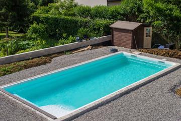 piscine en chantier