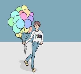 Feest met ballonnenjongen