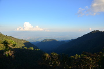 Landscape mountain view at Chiang Mai Thailand