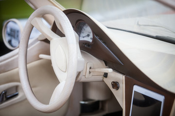 Dashboard of a luxury car